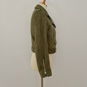 Zara Jackets & Coats - Zara Basic Outerwear Medium Moto Jacket Faux Suede